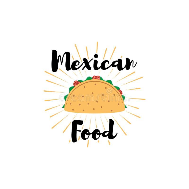 taco Meksyk jedzenie Tradycyjna Meksykańska kuchnia Przedmiot wektor ilustracja wektor