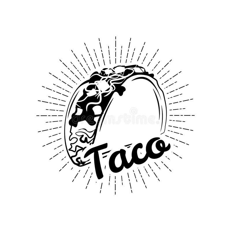 taco Meksyk jedzenie Tradycyjna Meksykańska kuchnia Przedmiot wektor ilustracji