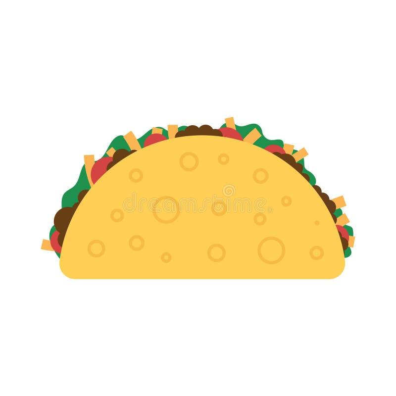 Taco meksykanina jedzenie royalty ilustracja