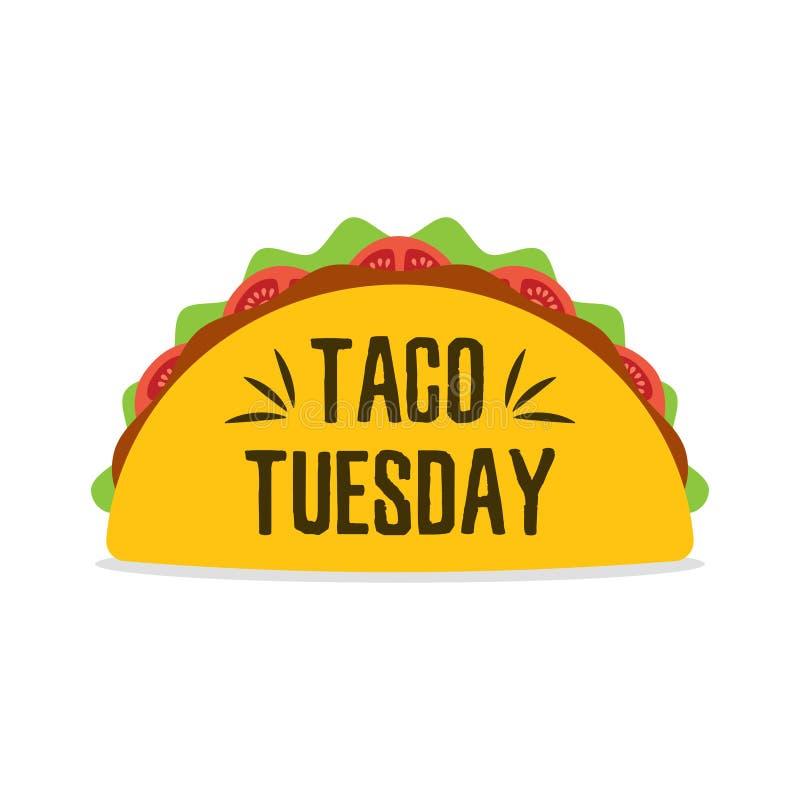 Taco meksykanina jedzenie ilustracja wektor