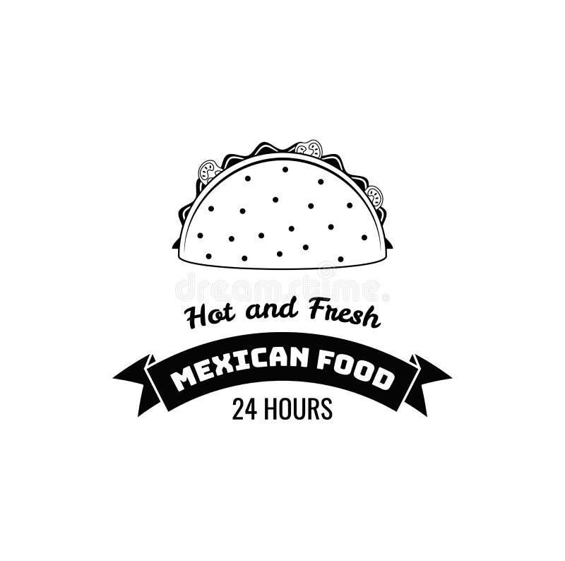 Taco meksykanina jedzenie Gorący i świeży literowanie również zwrócić corel ilustracji wektora royalty ilustracja