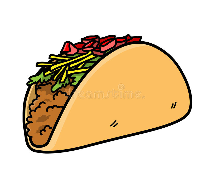 Taco Mexican Food Vector Icon Stock Vector