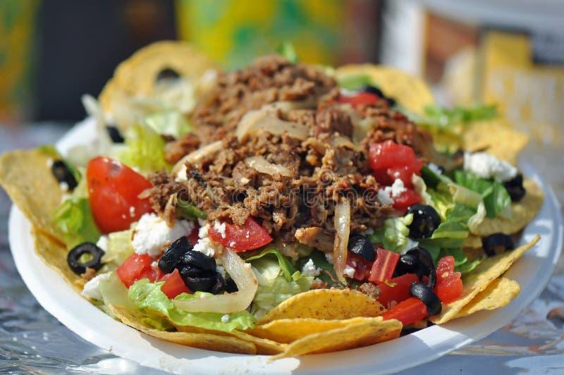 Taco Nacho Salad fotografia stock libera da diritti