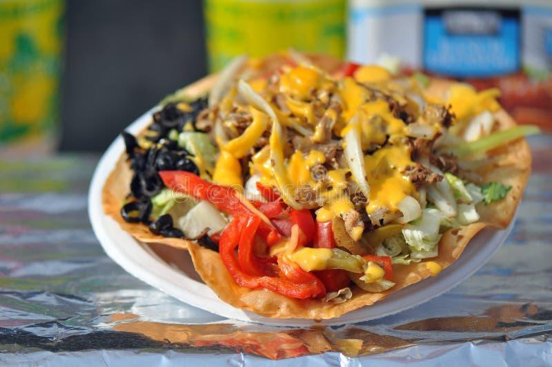 Taco Nacho Salad immagine stock