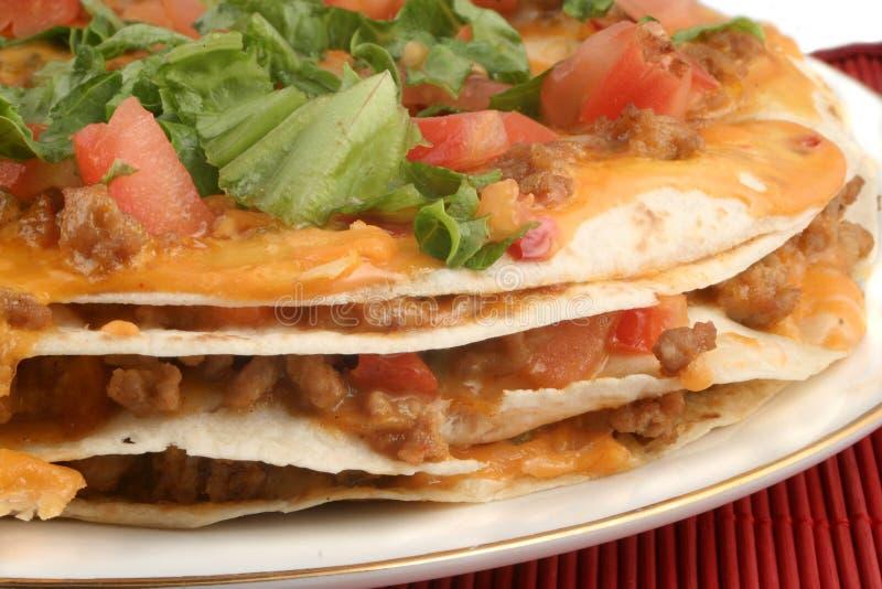 Taco pizza royalty free stock photos