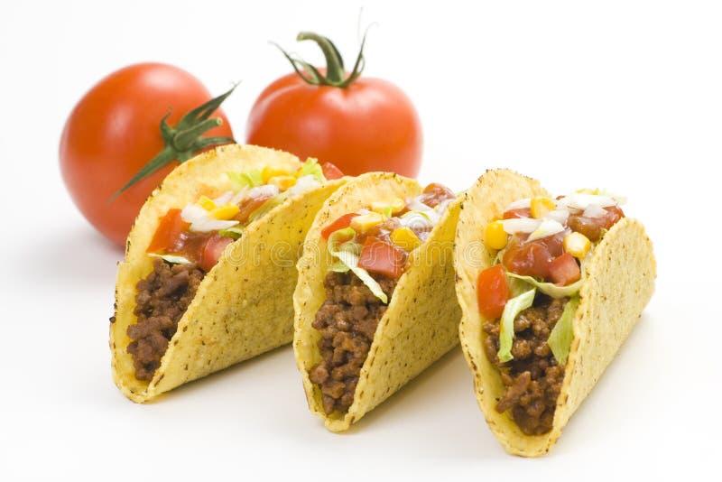 Taco squisito, alimento messicano immagini stock