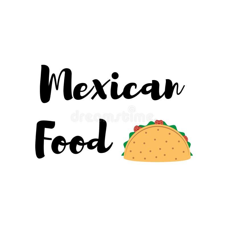 Taco Tradycyjny meksykański jedzenie projekta elementów etykietki wektor ilustracja wektor