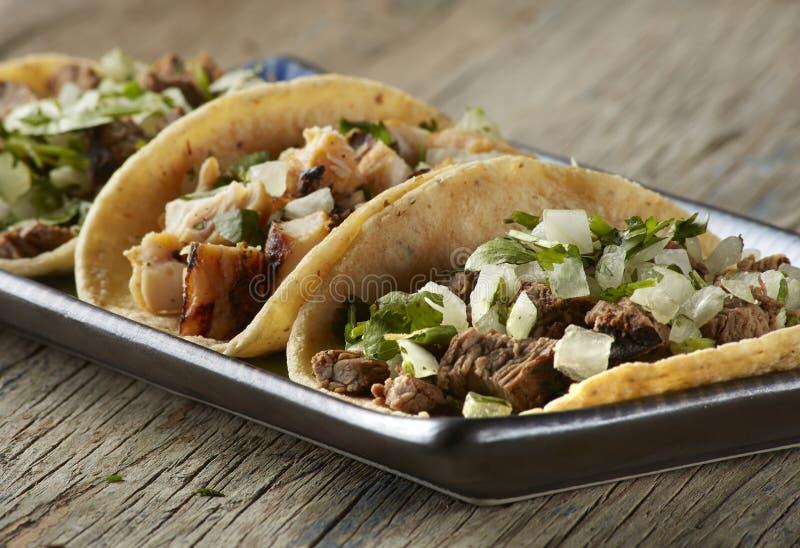 Taco-Trio stockbilder