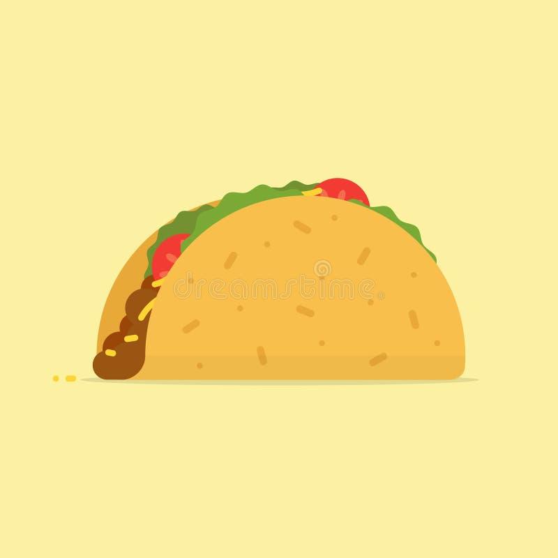Taco vectorillustratie stock illustratie