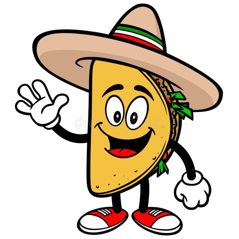 Taco Waving. A vector illustration of a Taco Waving royalty free illustration