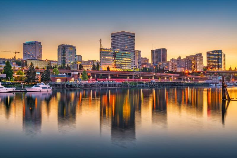 Tacoma, Вашингтон, горизонт США стоковая фотография
