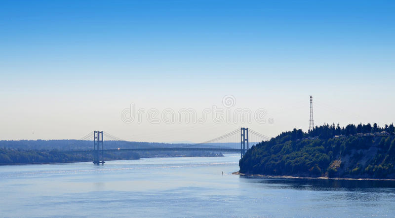 Tacoma-Enge-Brücke lizenzfreies stockbild