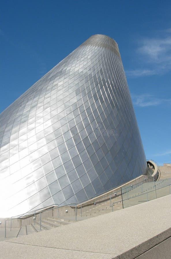 Tacoma-Museum des kegelförmigen Glasäußeren lizenzfreies stockbild