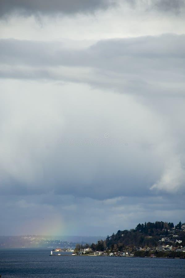 Tacoma ponad tęczą zdjęcie stock