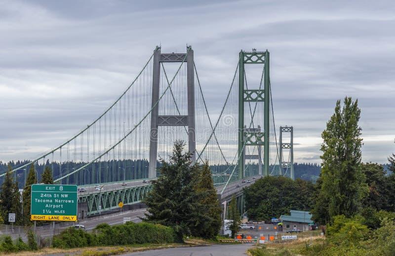 Tacoma-trångt pass bro arkivbild