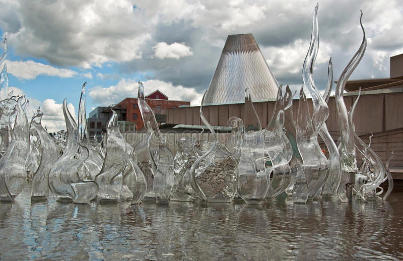TACOMA, WA - NOVEMBER: Museum van de Aantrekkelijkheid van het Glas stock foto
