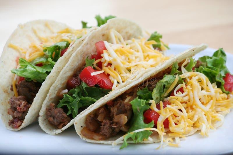 tacos βόειου κρέατος στοκ φωτογραφίες