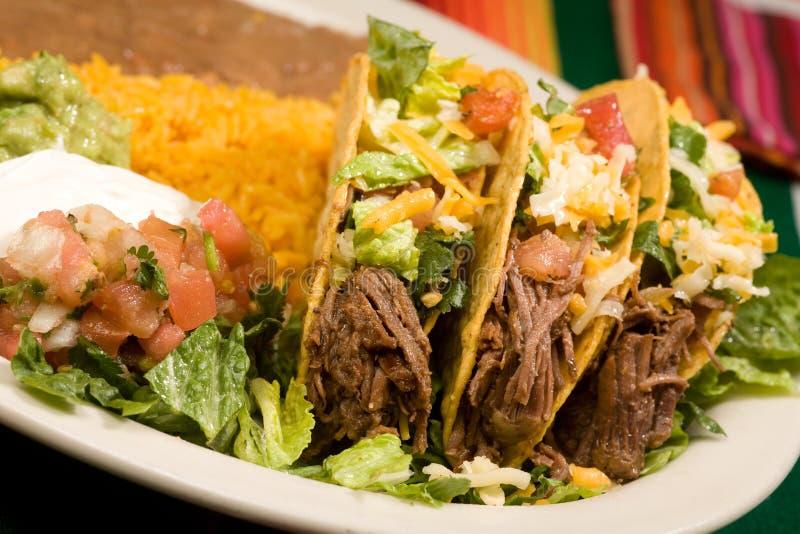 Tacos βόειου κρέατος στοκ εικόνα