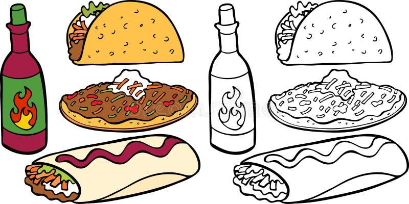Tacos illustration libre de droits
