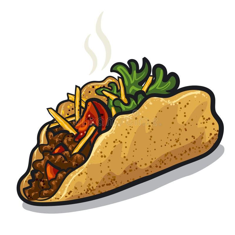 tacos vektor illustrationer