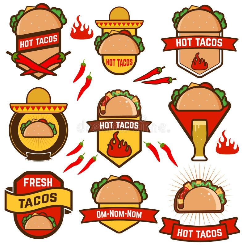 tacos ilustração do vetor