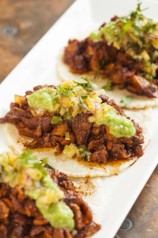 Tacos al Pastor stock photo