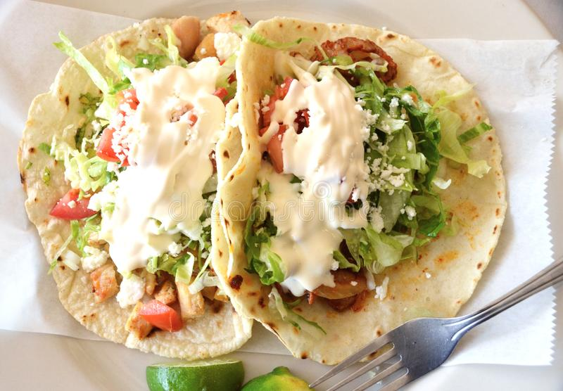 Tacos authentique photographie stock libre de droits