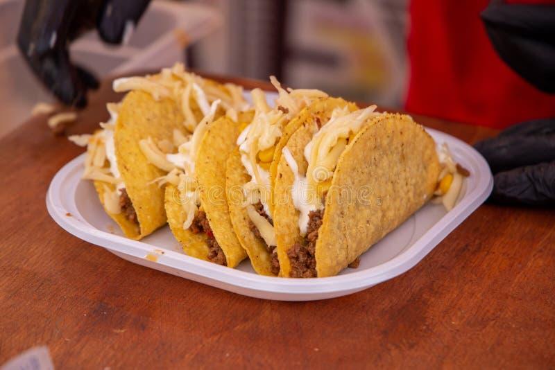 Tacos burrito dish mexican city of mexico royaltyfri bild