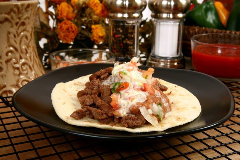 Tacos carne asada lizenzfreies stockbild