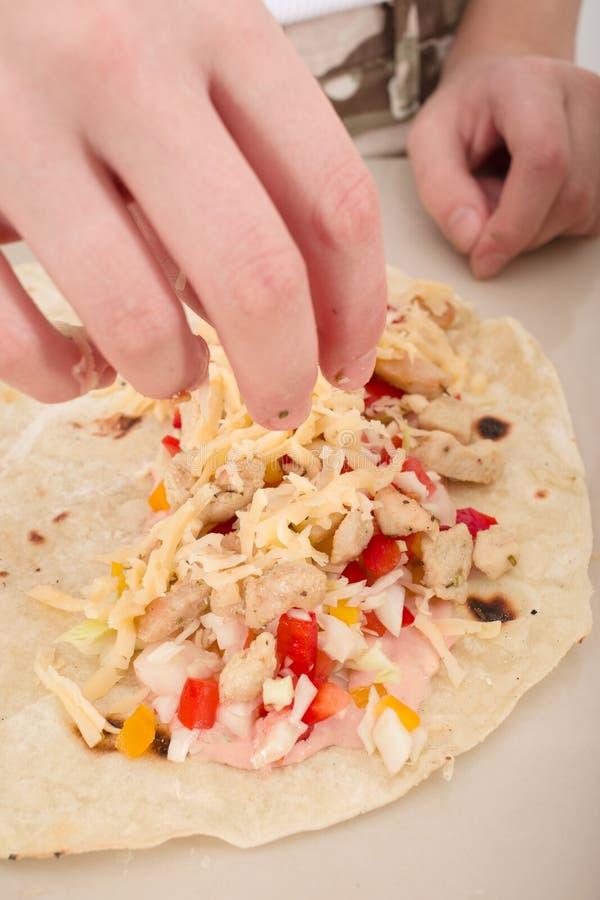Tacos caseiros fotografia de stock royalty free
