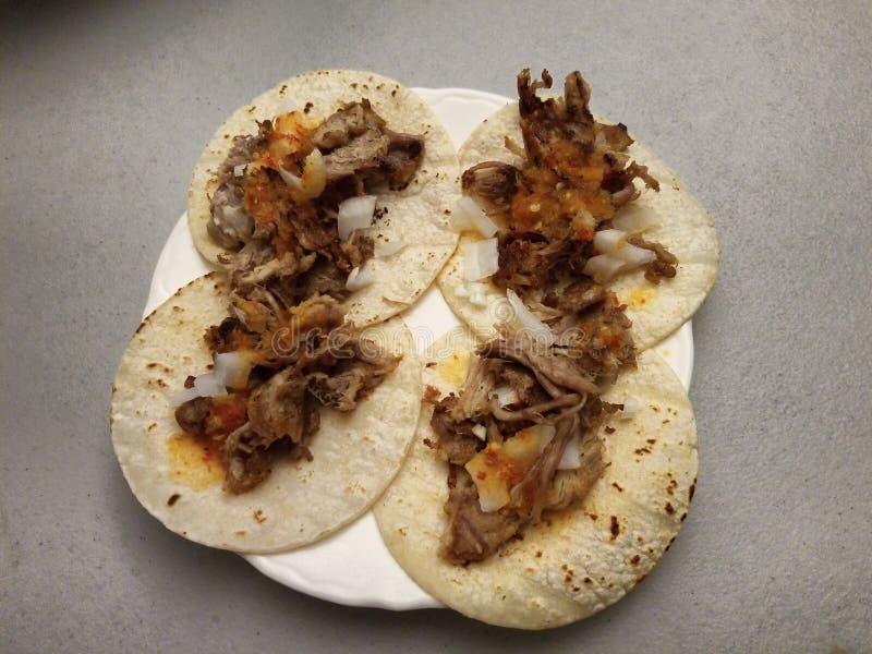 Tacos caseiros dos carnitas fotos de stock royalty free