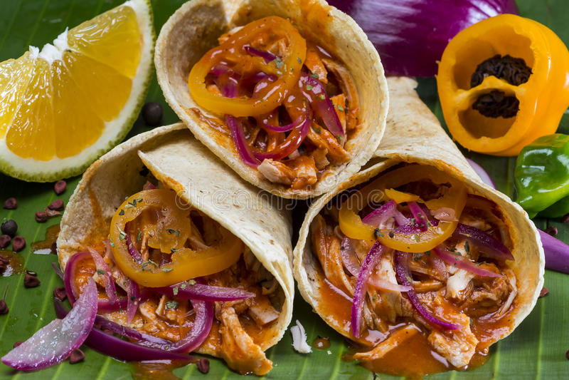 Tacos Cochinita Pibil lizenzfreie stockbilder