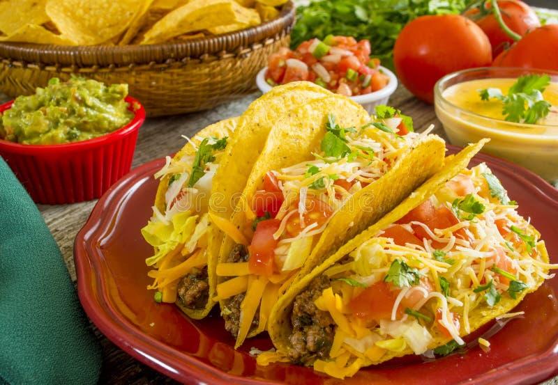 Tacos croustillant de boeuf image libre de droits