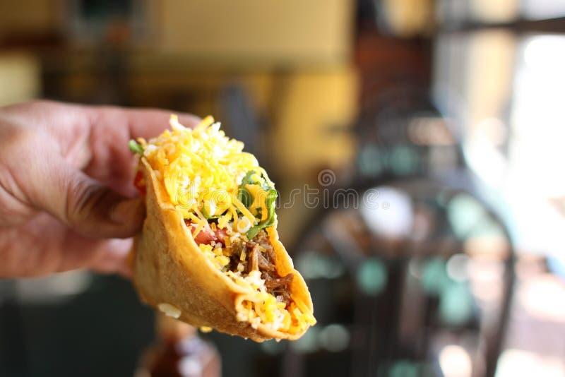 Tacos crujiente delicioso foto de archivo