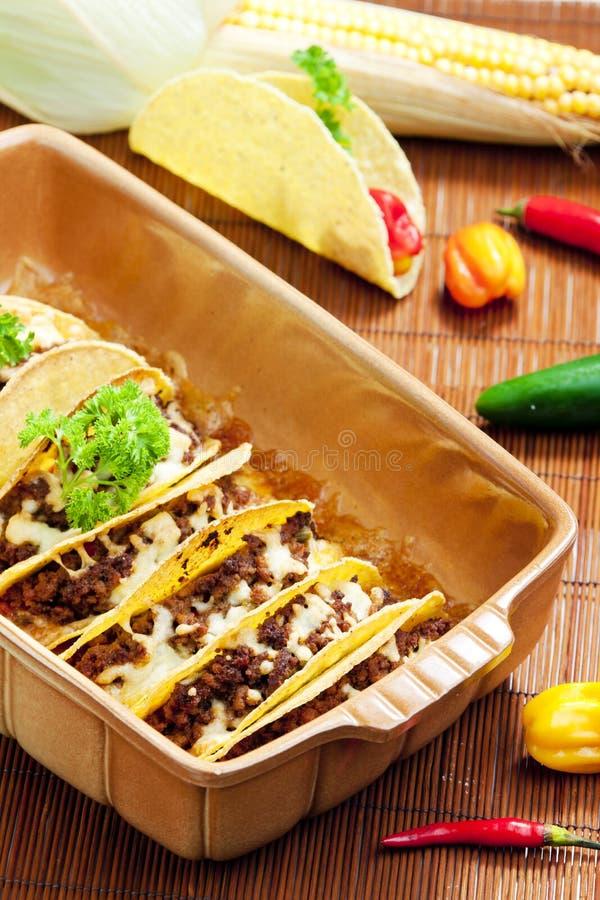 Tacos cuit au four photographie stock