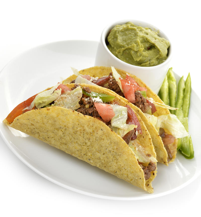 Tacos de boeuf photographie stock