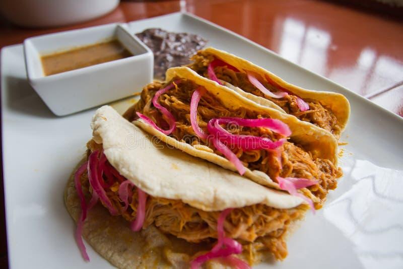 Tacos de Cochinita Pibil imagens de stock royalty free