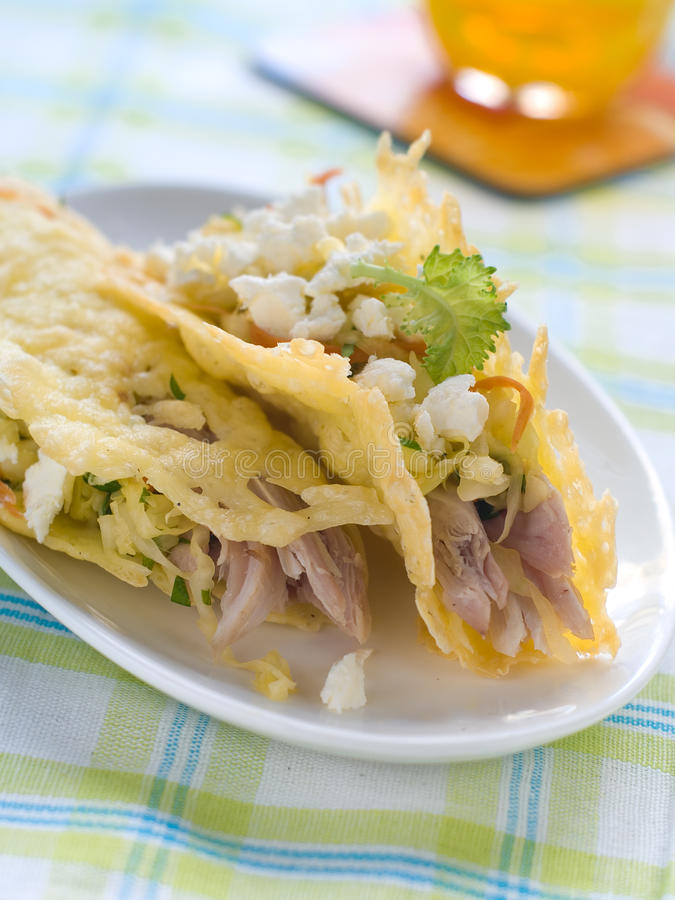 Tacos de fromage photographie stock
