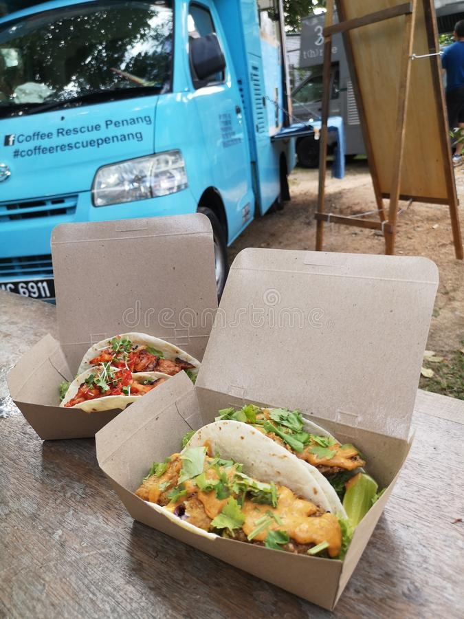 Tacos de Penang foto de stock