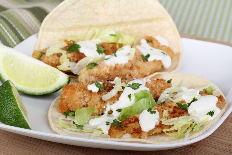 Tacos de poissons photos stock