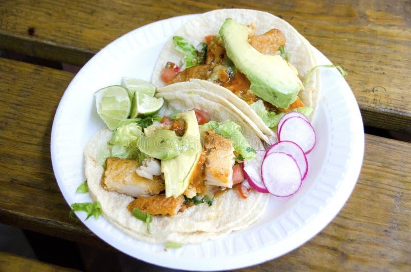 Tacos de poissons photographie stock libre de droits