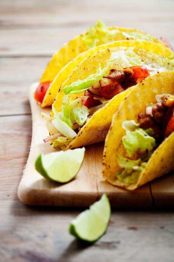 Tacos de poulet photographie stock