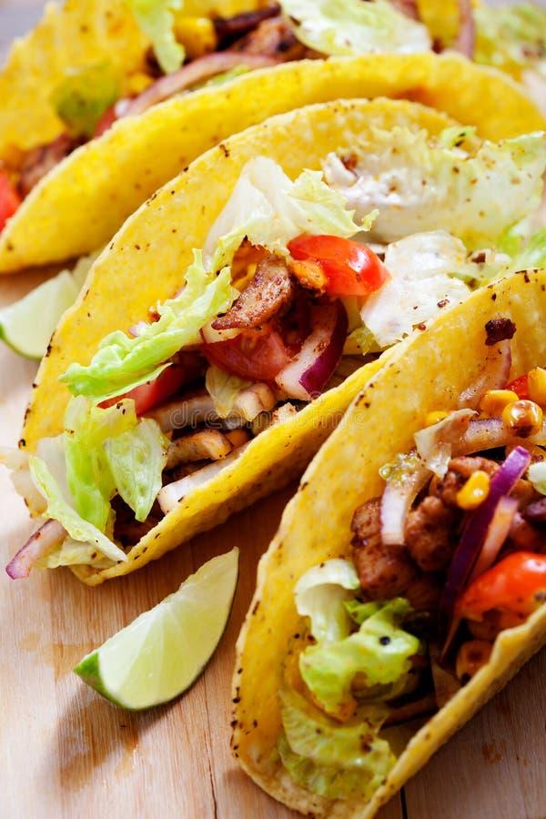 Tacos de poulet photo libre de droits