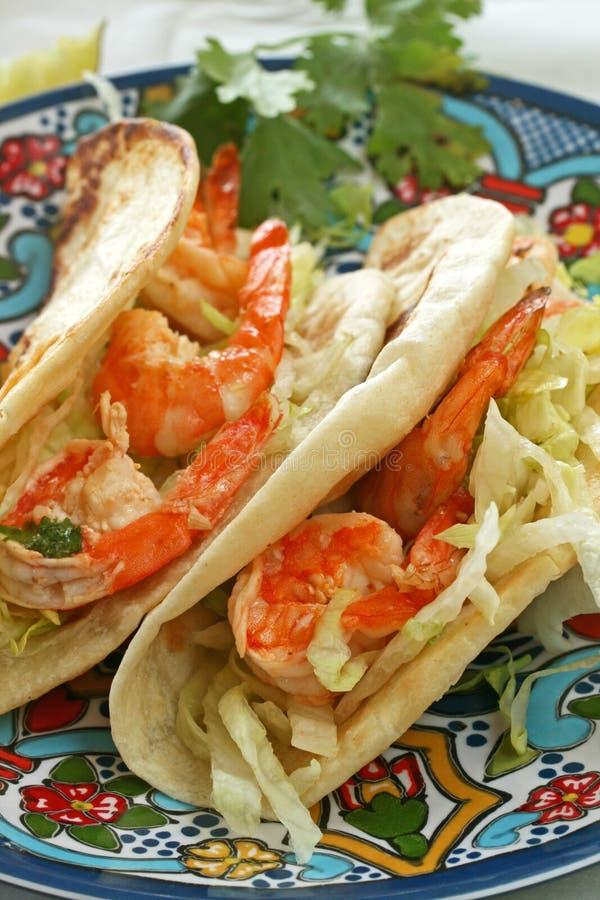 Tacos del camarón fotos de archivo libres de regalías