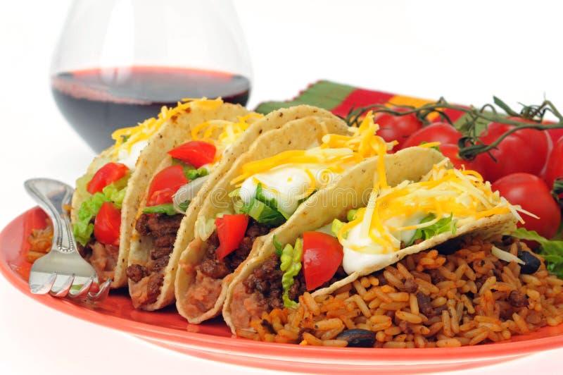 Tacos delicioso foto de archivo