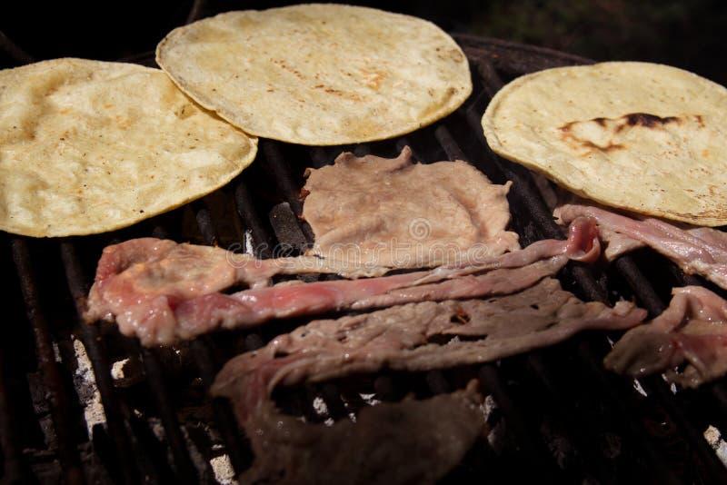 Tacos deliciosos del filete imagen de archivo