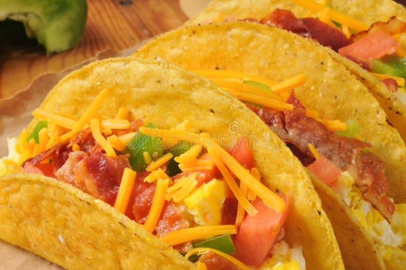Tacos do café da manhã imagem de stock royalty free
