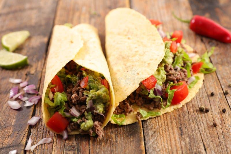 Tacos, fajita imagen de archivo libre de regalías