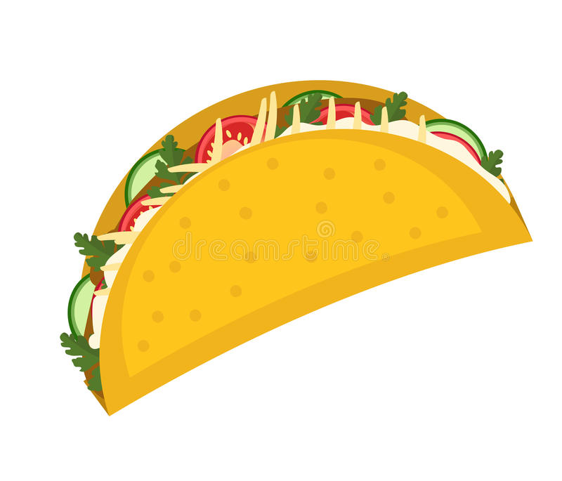 tacos icon flat cartoon style isolated on white background vector rh dreamstime com taco clipart free taco clipart transparent