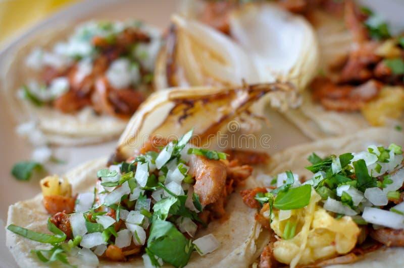 Tacos messicano autentico della via fotografia stock libera da diritti